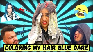 Coloring my Hair BLUE (because I said I will🥺)