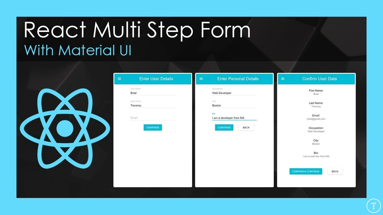 Multi Step Form With React & Material UI