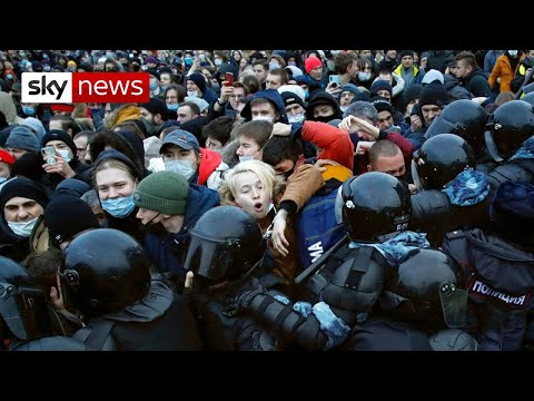Navalny supporters arrested during mass protests in Russia