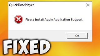 How To Fix Please Install Apple Application Support QuickTime Player Error - Apple QuickTime Player
