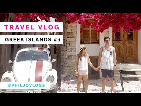 GREEK ISLANDS VLOG - The bluest beach EVER