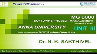 MG6088   MCQs  UNIT III ACTIVITY PLANNING AND RISK MANAGEMENT  Anna University   Dr. N. K. Sakthivel