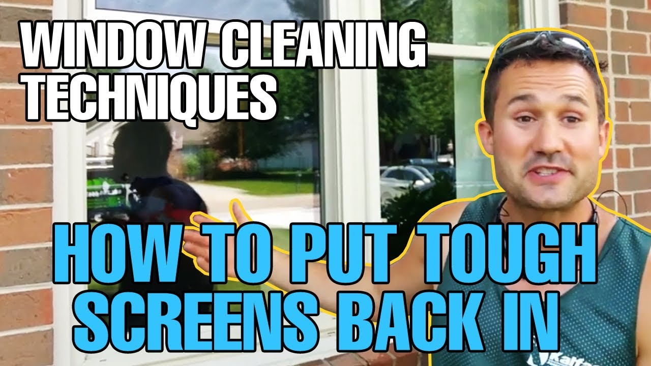 Window Cleaning Techniques - How To Put \