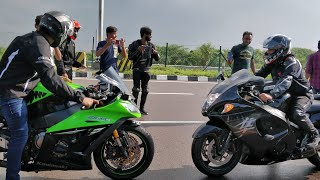 HAYABUSA VS KAWASAKI ZX10R Independence Day Ride
