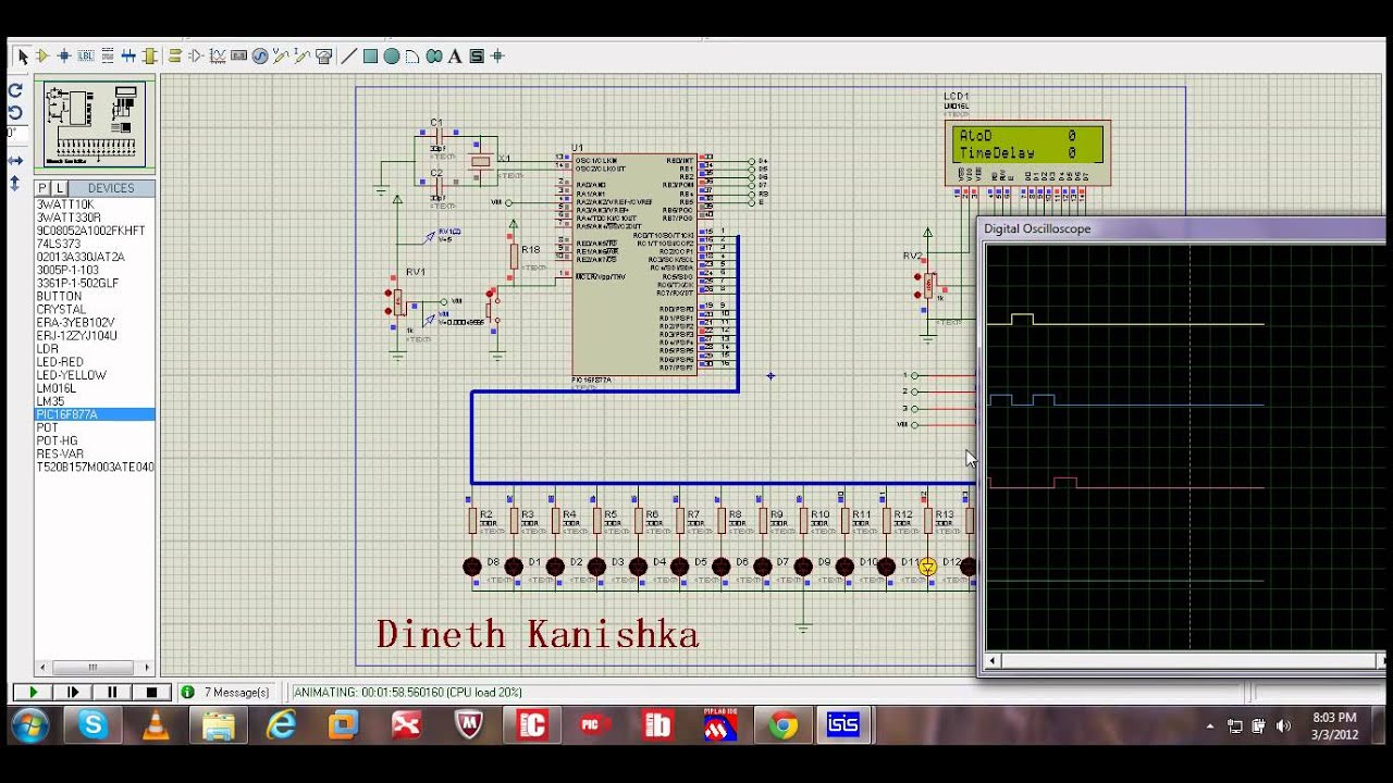 Circuit Diagram Knight Rider Lights Composed Of Lm324 Basiccircuit Seekiccom Design With Proteus Isis Youtube