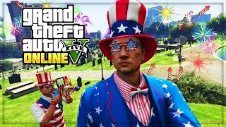 GTA 5 DLC UPDATE - INDEPENDENCE DAY JULY SPECIAL!! (GTA 5 ONLINE GAMEPLAY)
