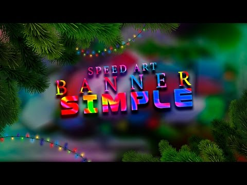 MERRY CHRISTMAS!!! | SPEED ART BANNER FOR SIMPLE | ERLANZ