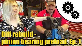 Diff rebuild - how to set pinion bearing preload Ep.1 #1023