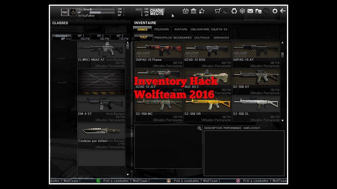 wolfteam inventory hack free