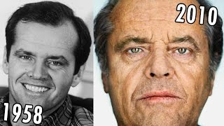Jack Nicholson  (1958-2010) all movies list from 1958! How much has changed? Before and After!
