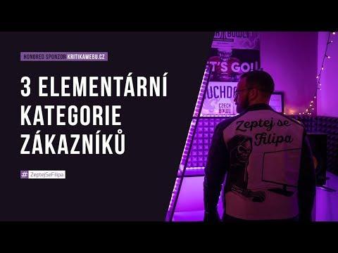 3 ELEMENTÁRNÍ KATEGORIE ZÁKAZNÍKŮ (LIVE)