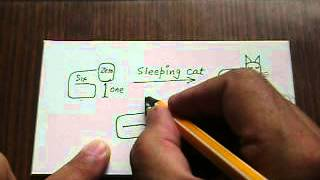 How to draw a sleeping cat with numbers 061..by Lalit Kishore