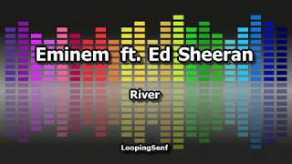 Eminem ft.  Ed Sheeran - River - Lyric Video