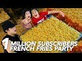 1 MILLION SUBSCRIBERS FRENCH FRIES PARTY | Ranz and Niana mp3 indir