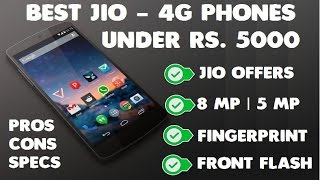 Best Jio 4G VoLTE Phones Under Rs 5000 [2017]