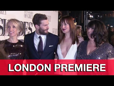 Fifty Shades of Grey London Premiere Interviews - Jamie Dornan, Dakota Johnson, Sam Taylor-Johnson
