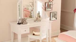 Ne Kids Walnut Street - Writing Desk With Vanity