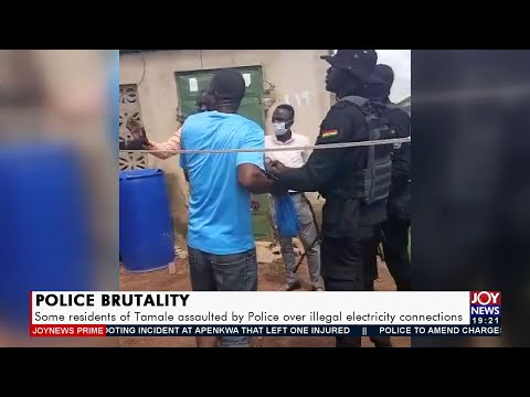 Some residents of Tamale assaulted by Police over illegal electricity connections (21-9-21)