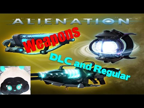 Alienation Weapons plus DLC Devastator, Collapser, and Vortex Grenade
