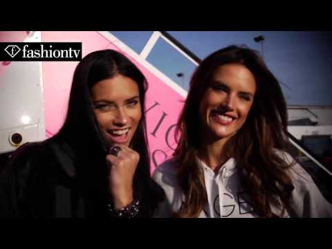 Victoria's Secret Fashion Show 2014-2015 Behind the Scenes on the Angels Jet FashionTV