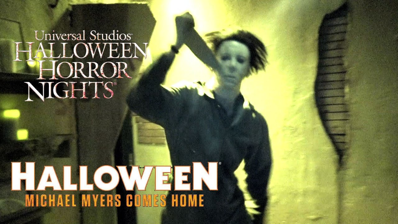 halloween michael myers comes home haunted house walk through halloween horror nights universal youtube - Halloween Horror Night Theme