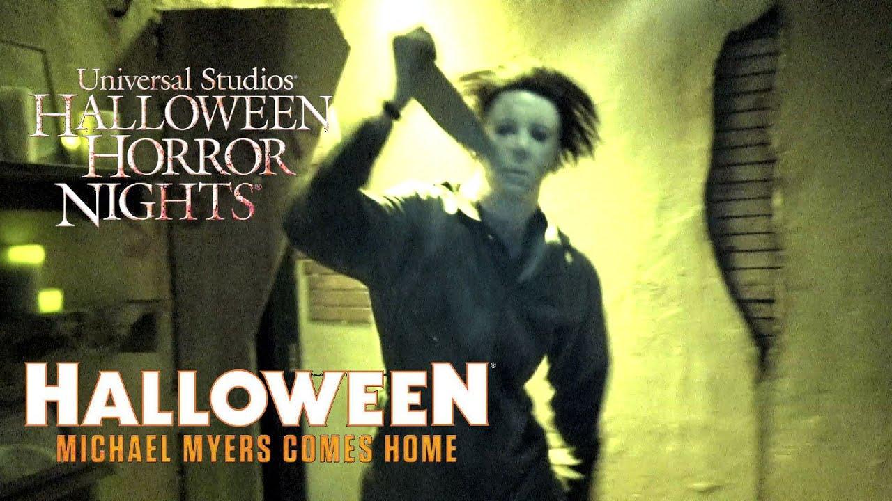 halloween michael myers comes home haunted house walk through halloween horror nights universal youtube - Halloween Horror Night Theme