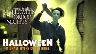 Halloween: Michael Myers Comes Home Haunted House Walk Through Halloween Horror Nights Universal
