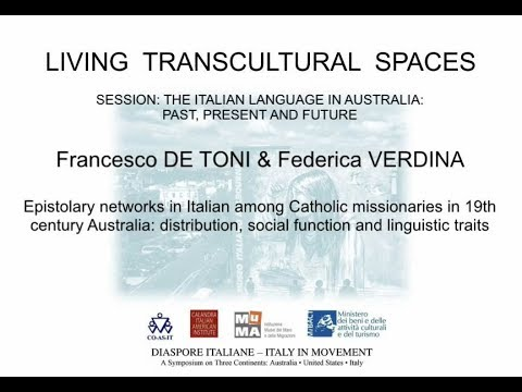 Epistolary networks in Italian among Catholic missionaries in 19th century Australia   distribution,