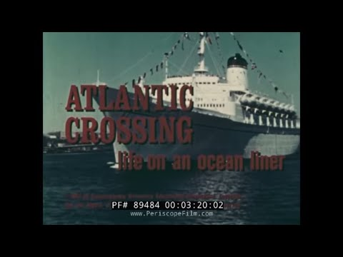 OCEAN LINER SS LEONARDO DA VINCI   1960s ITALIAN LINE TRANSATLANTIC CRUISE FILM 89484