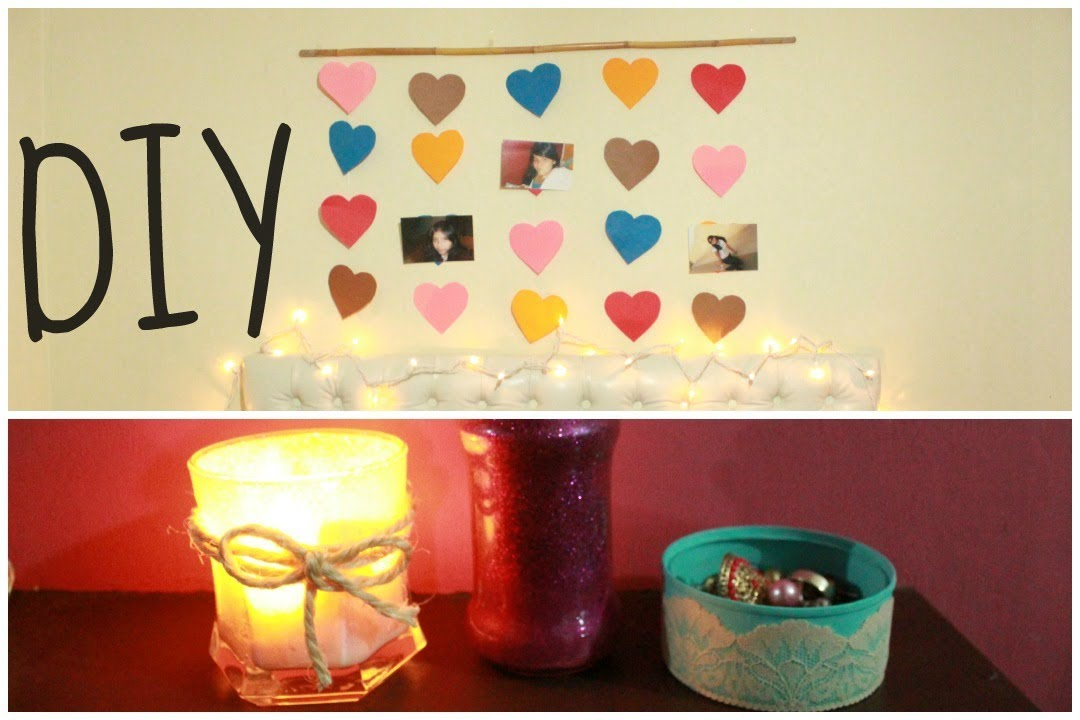 Decora tu habitacion diy 4 ideas youtube for Cosas para adornar mi cuarto