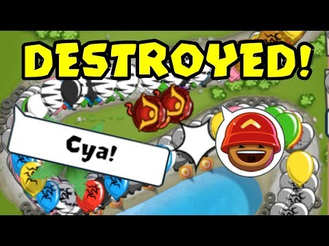 TRASH TALKER GETS DESTROYED! BFB COLOSSEUM GAMEPLAY! (BTD Battles)