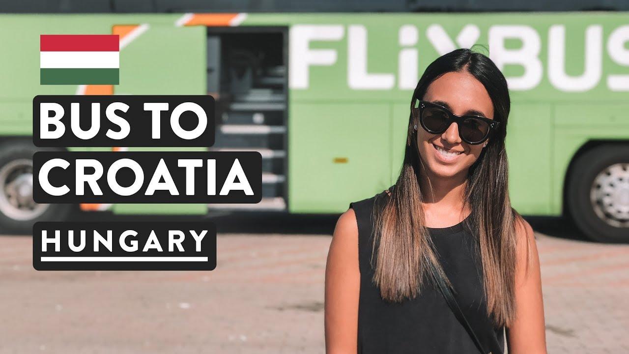 border delays - budapest to zagreb bus | hungary to croatia flixbus |  travel vlog