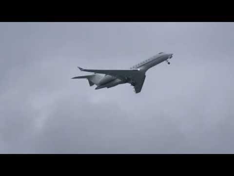 *Rare* Bombardier BD-700-1A10 Global Express┃OE-IBC ┃Fast takeoff at Tartu airport