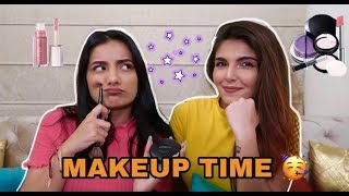 DOING ASHI'S MAKEUP 💄 ft. Ashi Khanna|| Gujju Unicorn