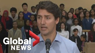 Canada Election: Trudeau joined by Masai Ujiri at charity campaign event