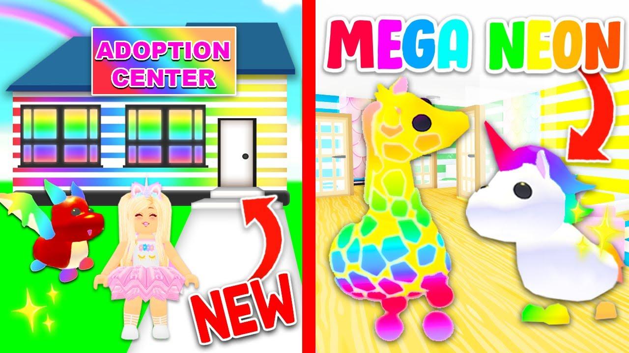 I Opened A Free Mega Neon Pets Adoption Center In Adopt Me