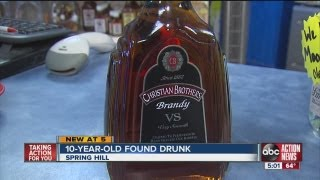 10-year-old boy found wandering Spring Hill street naked and drunk