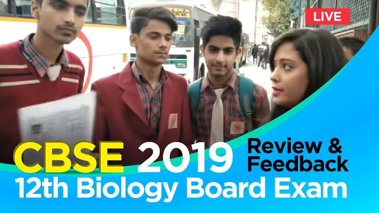 CBSE 12th Biology Paper 2019: Download PDF, Watch Live Video