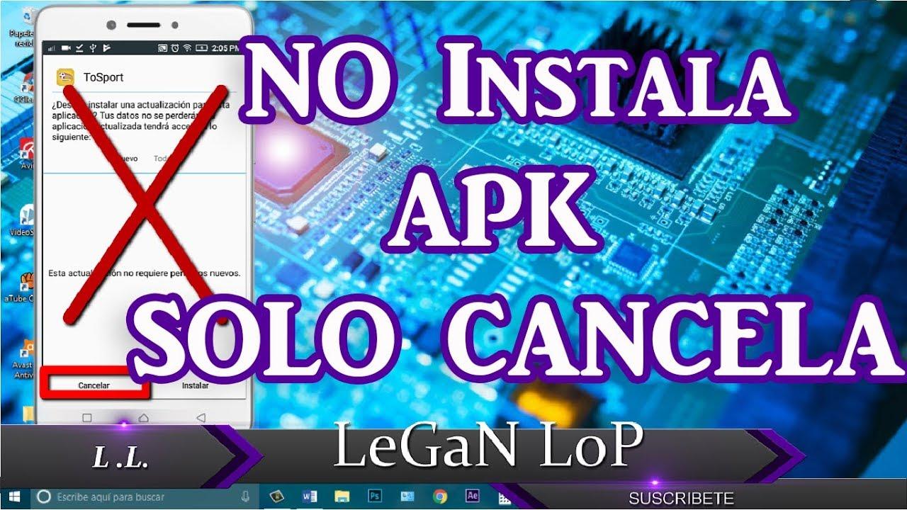 Error al instalar APK en Android Solo cancela  #Smartphone #Android