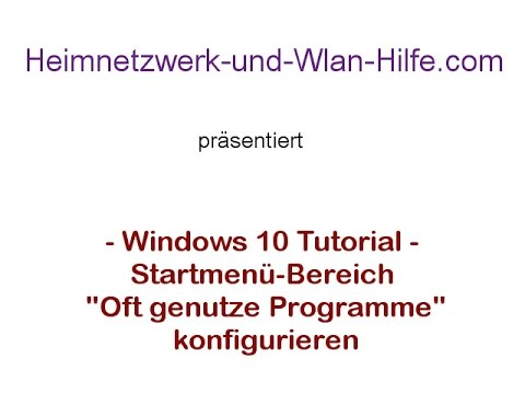 Windows 10 Startmenü-Bereich