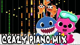 Crazy Piano! BABY SHARK [Pinkfong cover]