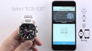 CASIO EDIFICE ECB 500 Connecting with Another Phone