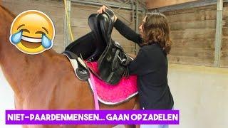 Niet-paardenmensen zadelen een paard op! | LeanneAbigail