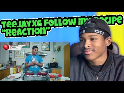 """TEEJAYX6 MAKES A SCAM BURGER """"REACTION""""   FOLLOW MY RECIPE"""