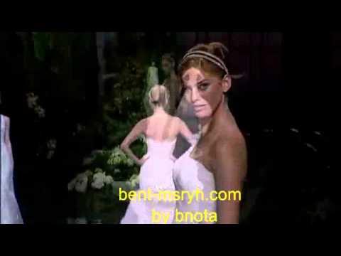 5cb503d1e310a اقوى عرض ازياء فساتين زفاف 2013 - YouTube