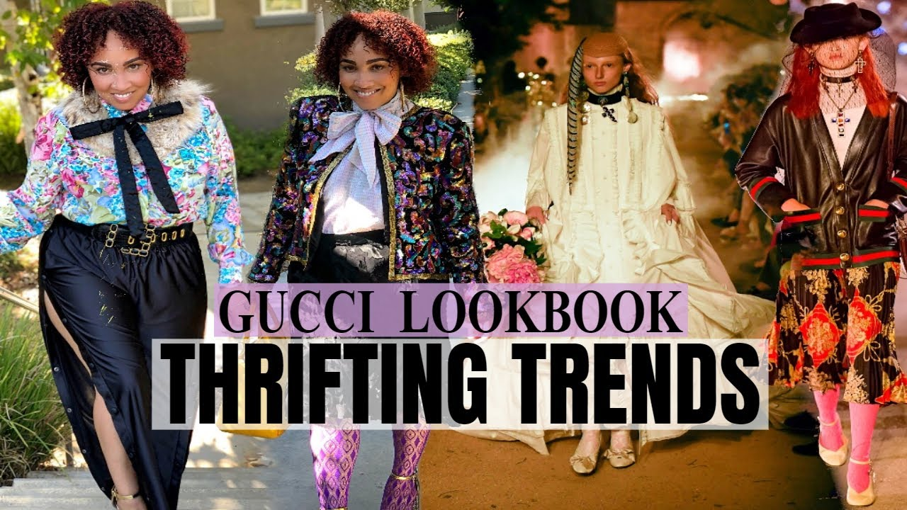 [VIDEO] - Thrifting Trends   Fall Trends Lookbook   How To Style Gucci Runway Trends 2