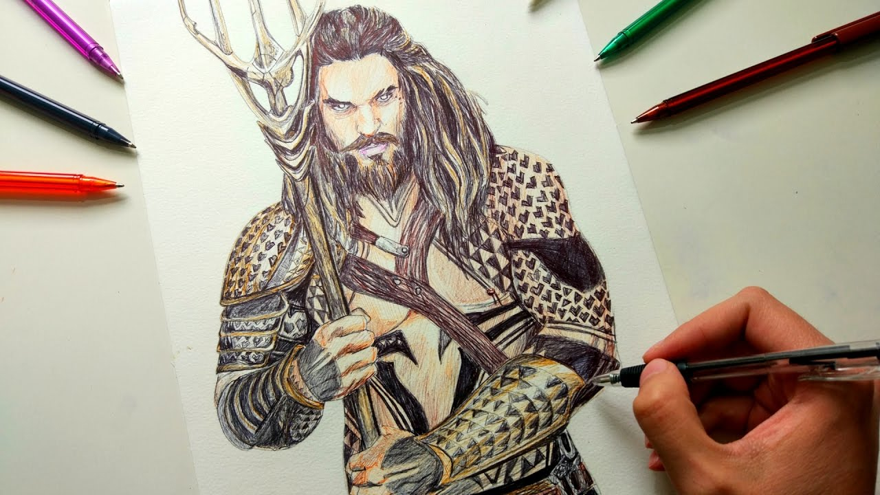 Aquaman Drawing Justice League Youtube