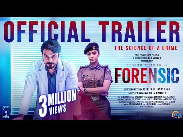 Forensic Malayalam Movie Official Trailer Tovino Thomas Mamtha Mohandas Akhil Paul Anas Khan Youtube