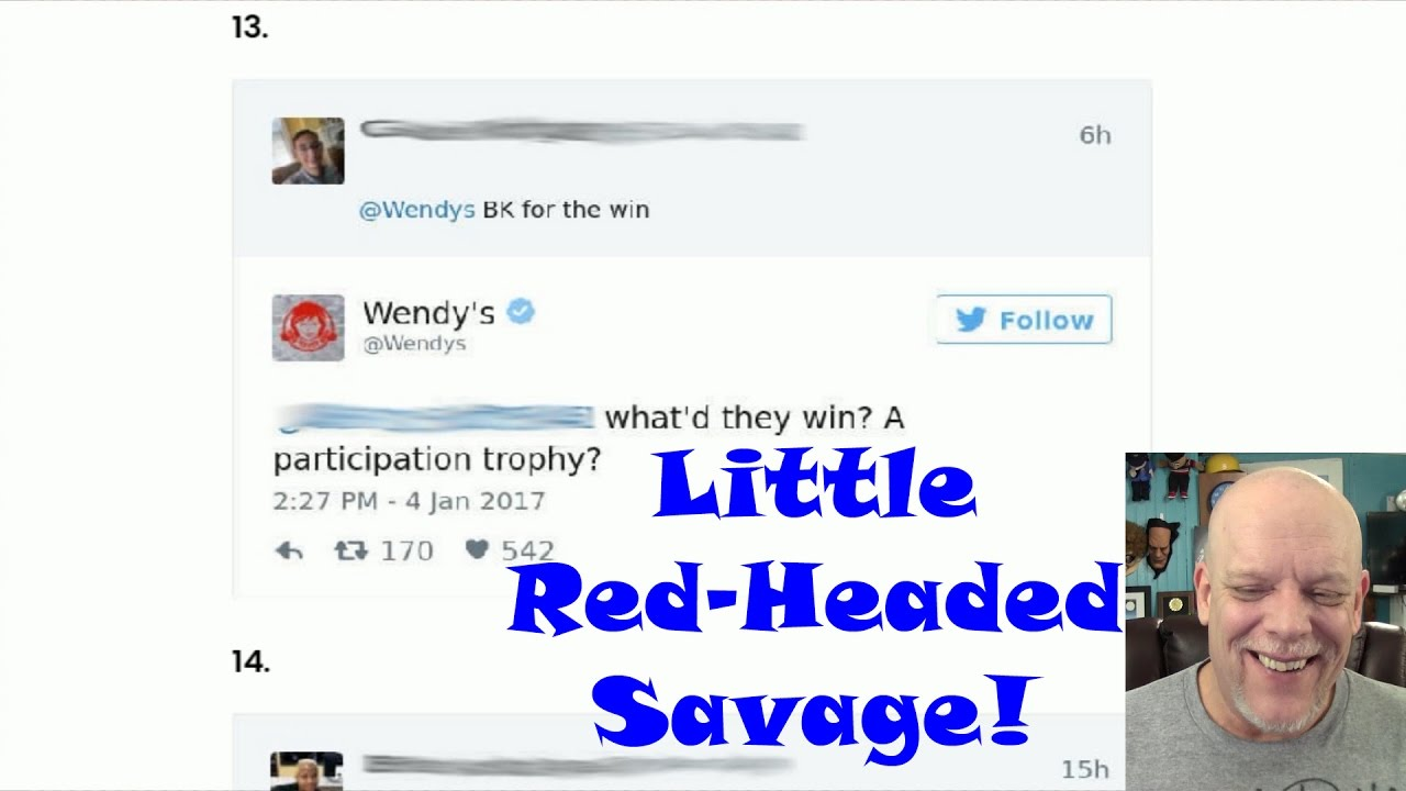 WENDYS TWITTER IS PURE SAVAGERY YouTube - 24 hilarious comebacks wendys twitter account