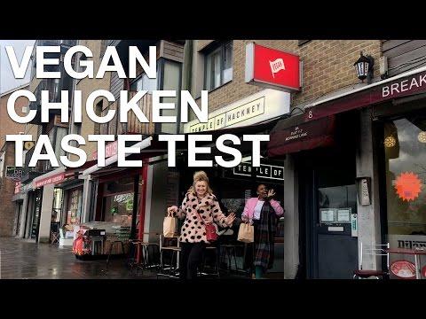 Cordwainers Court taste test vegan chicken